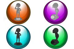 3d man weight icon Royalty Free Stock Photo