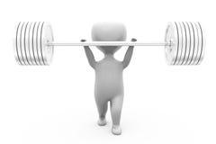3d man weight lifting concept Stock Image