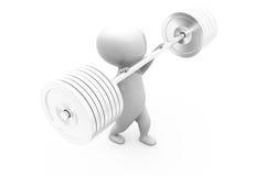 3d man weight lifting concept Stock Photos