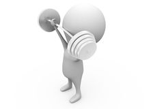 3d man weight lifting concept Royalty Free Stock Image