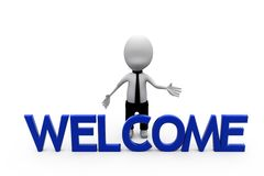 3d man welcome concept Stock Photography