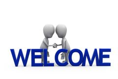 3d man welcome concept Royalty Free Stock Photography