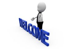 3d man welcome concept Royalty Free Stock Photos