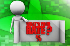 3d  man whats your rate Royalty Free Stock Photography