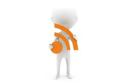 3d man wifi icon concept Stock Photography