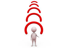 3d man wifi icon concept Royalty Free Stock Photos