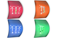 3d man windmill icon Royalty Free Stock Image
