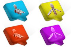 3d man with wings icon Royalty Free Stock Image