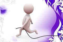 3d man wire  illustration Stock Photography
