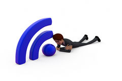 3d man wireless concept Stock Photography