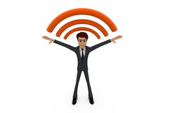 3d man wireless concept Stock Images