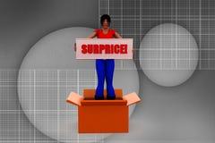 3d man women surprice illustration Stock Images
