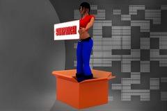 3d man women surprice illustration Royalty Free Stock Image