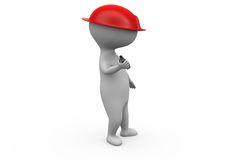 3d man worker with cap concept Stock Images