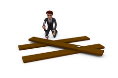 3d man worker concept Stock Photography