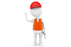3d man worker concept Stock Images