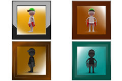 3d man worker icon Stock Images