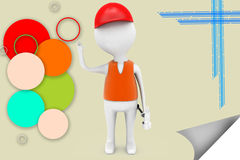 3d man worker illustration Stock Photography