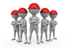 3d man worker team concept Royalty Free Stock Photos