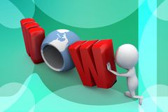 3d man wow illustration Stock Photography