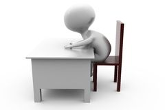 3d man write on table concept Stock Images