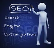3d man writing seo Stock Image