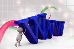 3d man www illustration Royalty Free Stock Images