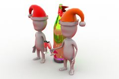 3d man xmas part concept Stock Photo
