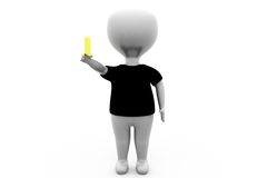 3d man with yellow card concept Stock Image