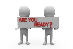 3d man are you ready concept Royalty Free Stock Photo