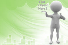 3d man your object here illustration Royalty Free Stock Photography