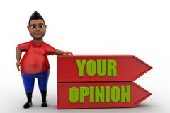 3d man your opinion Stock Photo