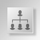 3D  management Button Icon Concept Royalty Free Stock Photos