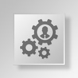 3D Manager Button Icon Concept stock abbildung