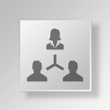 3D manager Button Icon Concept Royalty-vrije Stock Afbeeldingen