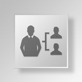 3D manager Button Icon Concept Royalty-vrije Stock Fotografie