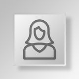 3D manager Button Icon Concept Royalty-vrije Stock Afbeelding