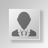 3D manager Button Icon Concept Royalty-vrije Stock Foto