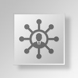 3D manager Button Icon Concept Stock Fotografie