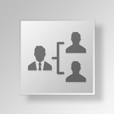 3D manager icon Business Concept Royalty Free Stock Photo