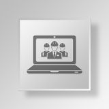 3D manageringenieur Button Icon Concept Vector Illustratie