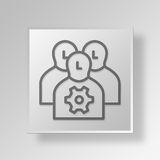 3D Managers icon Business Concept Stock Photo