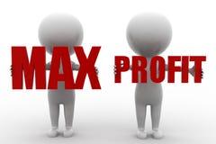 3d Mann Max Profit Stockfoto