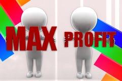 3d Mann Max Profit Illustration Lizenzfreies Stockbild