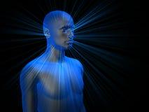 3D mannelijke wijze Stock Fotografie