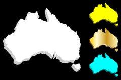 3D map of Australia stock illustration