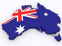 3d Map of Australia Royalty Free Stock Photography