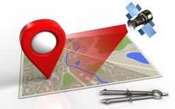 3d map Royalty Free Stock Images