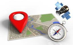 3d map Royalty Free Stock Photo