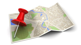 3d map Stock Photo